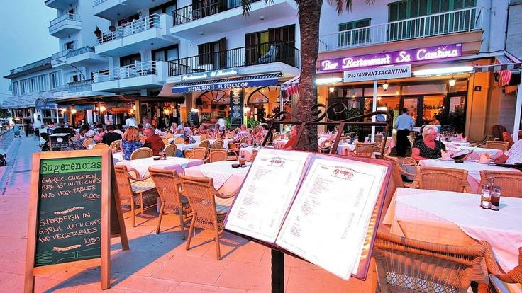 Restaurants in Cala Bona Majorca Spain