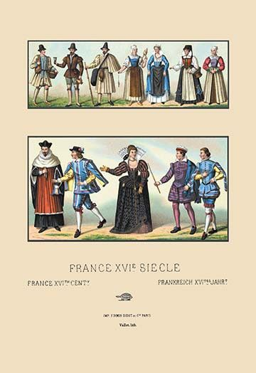 Costumes of Various French Classes, Sixteenth Century