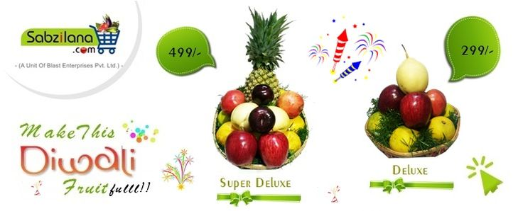 "Sabzilana.com's Special Gift Basket "" Make this Diwali FRUITfulll !! download Our App : goo.gl/LVGhmK #Diwali #Gifting #NewStyle"