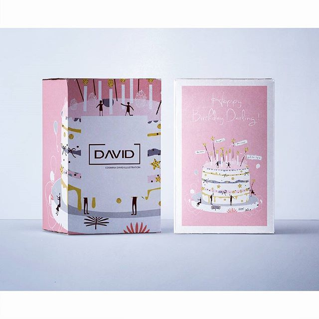 Happy birthday darling! ☆  #illustration #birthday #packaging  #graphicdesign #romaniandesign #cosminadavid #drawing #white #pink #cake #design #sketch #gifts #story #newyear #celebration #happybirthday #romanianillustration