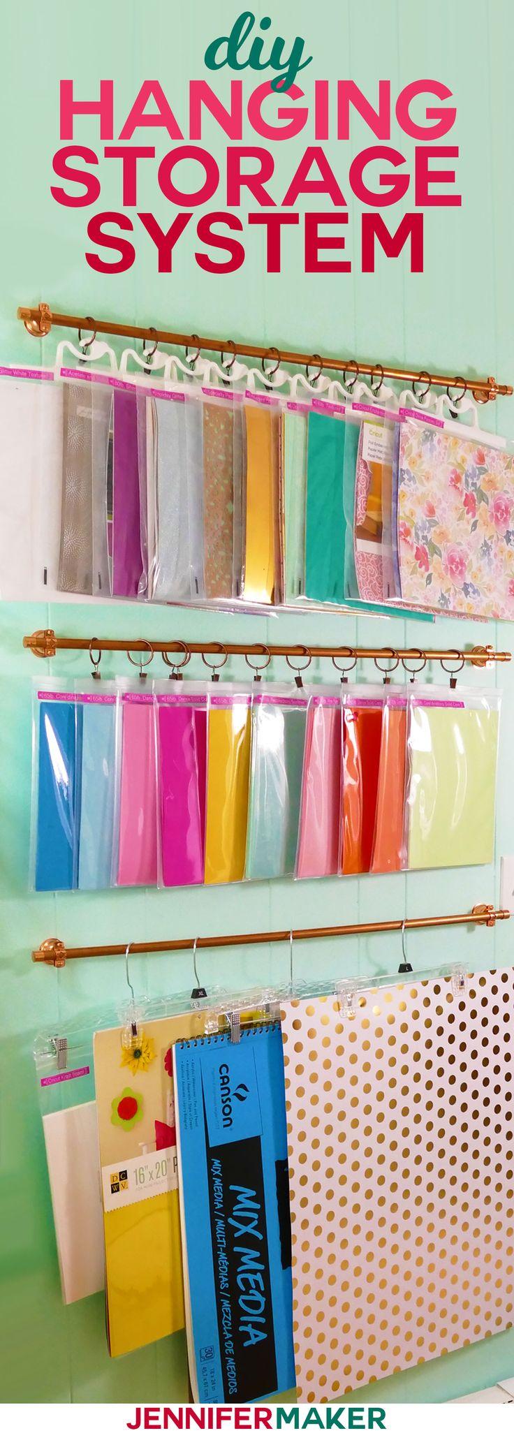 DIY Hanging Storage System for Craft Supplies
