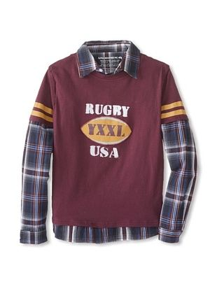 78% OFF Alpha Industries Boy's Rugby Twofer (Garnet)