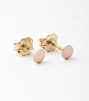 Catbird::shop by category::JEWELRY::Earrings::Dot Earrings - rose gold