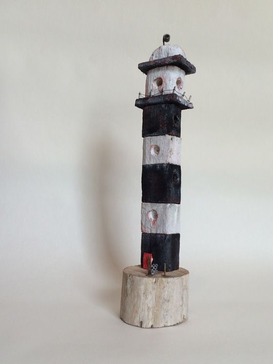 Lighthouse made from driftwood in West-Cork, Ireland