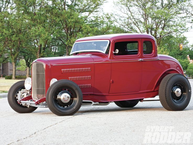 Red 1932 Ford Coupe Driver Side Wheels Photo 1