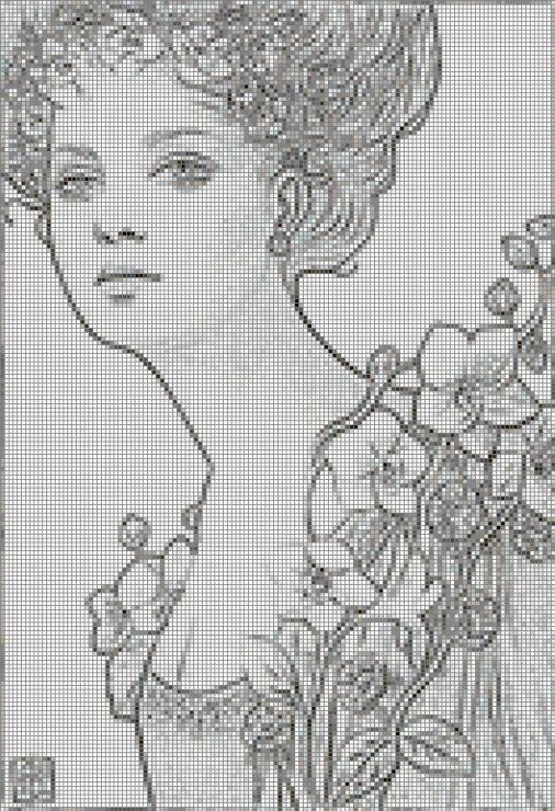 80 best Point de Croix Femmes Style ancien images on