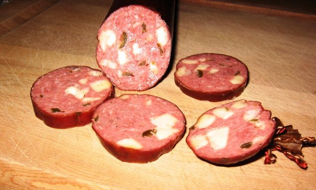 Jalapeno & Pepper Jack Cheese Venison Summer Sausage.....(Sorry Bambi)