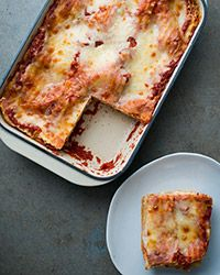 Serve this classic cheese lasagna recipe with a simple green salad and some crusty bread for an easy weeknight dinner.