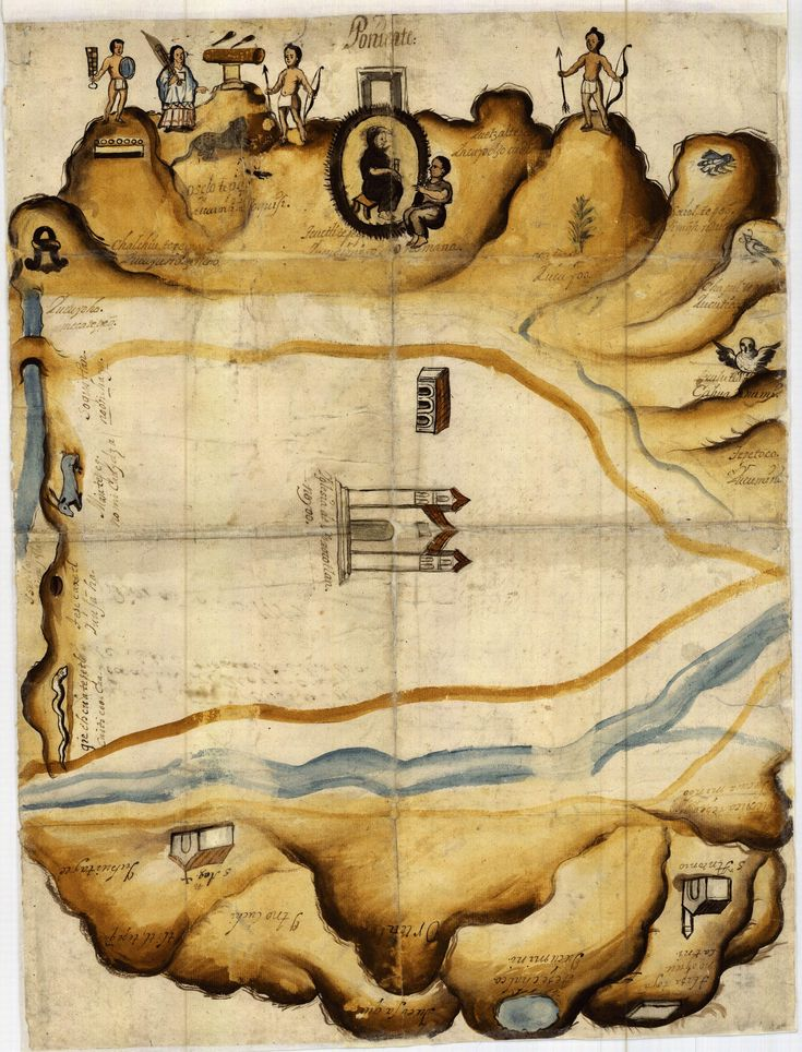 25 y 26. Mapa de las tierras del pueblo de Xoxocotlan (Estado de Oaxaca), formado en 1718