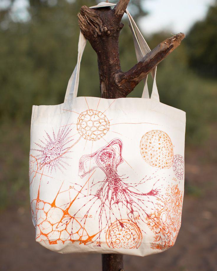 Microbiology Vintage Illustration Tote Bag
