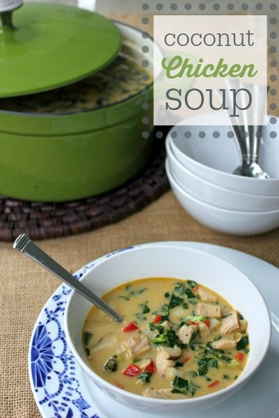 Healthy Coconut Chicken Soup recipe -- Gluten-Free, Dairy-Free, Paleo compliant
