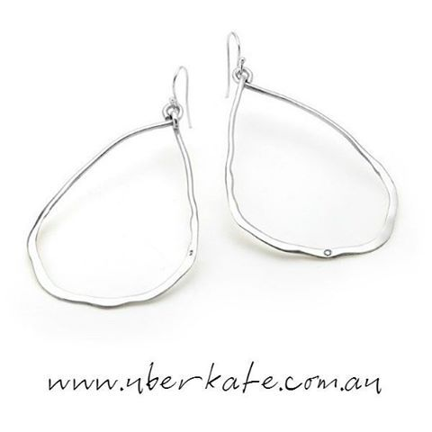 The weather is warming up so tie your hair back and pimp those ears with our silver 'smashed' earrings. https://www.uberkate.com.au/products.php?category=Earrings