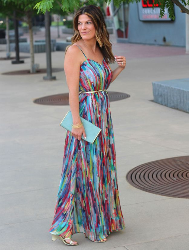 Bb dakota rainbow maxi dress http marionberrystyle for Tj maxx wedding guest dresses
