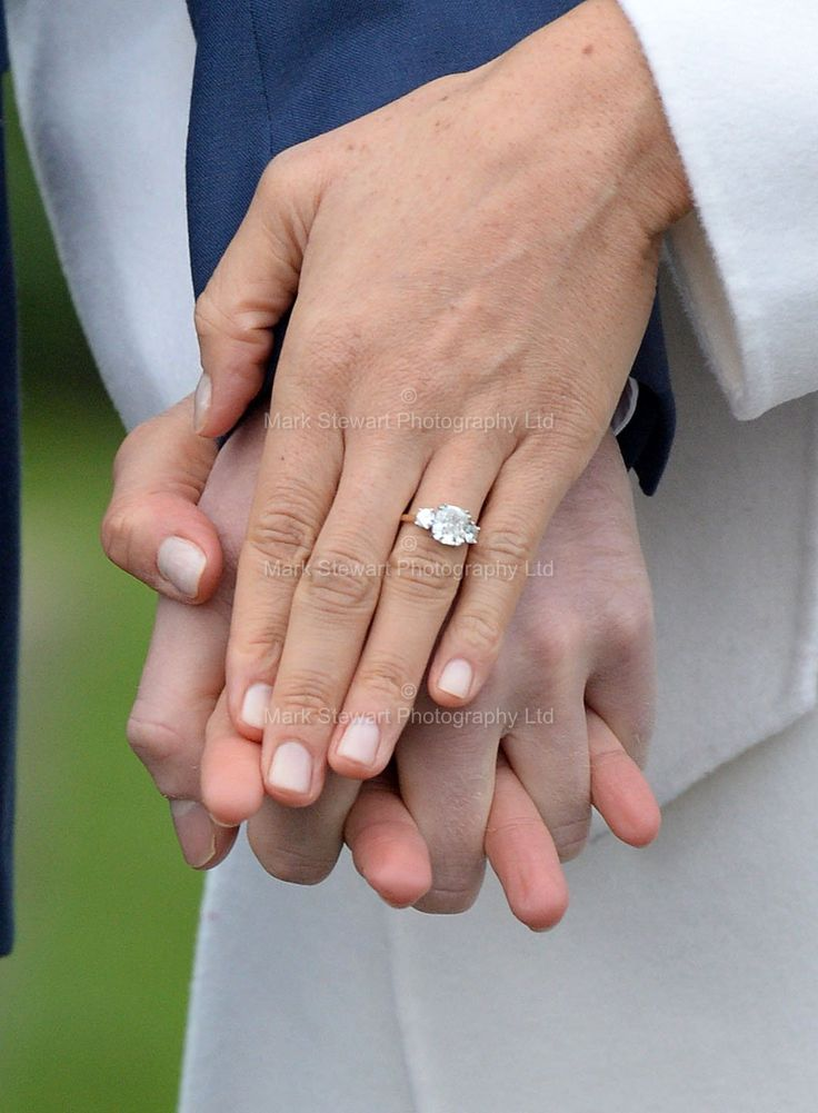 Meghan's engagement ring is made from diamonds-2 from the Prince's late mother Diana, Princess of Wales, and 1 from Botswana.