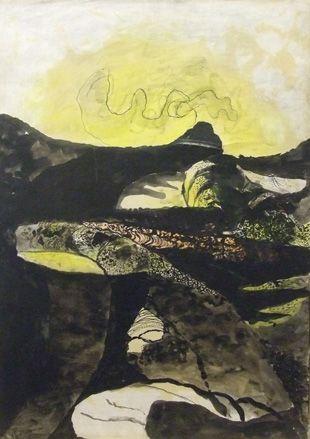 'Road Mounting between Hedges: Sunrise', 1949, Graham Sutherland