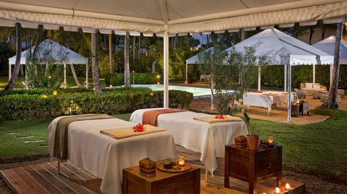 Melia Tropical All-inclusive Resort - The resort is one of the most complete in the Caribbean . Accommodations include 1,128 beautifully furnished Deluxe Junior Suites . All rooms feature private bathrooms, hair dryers, ceiling fans, air conditioning, cable TV, direct-dial telephones, internet access (fee applies), radio alarm clocks, mini-coolers, safes (fee applies), irons and ironing boards, and furnished balconies or terraces .
