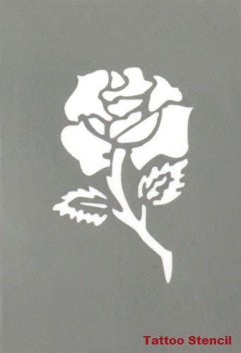 Rose Tattoo Stencil Stargazer #tattoostencils #t4aw