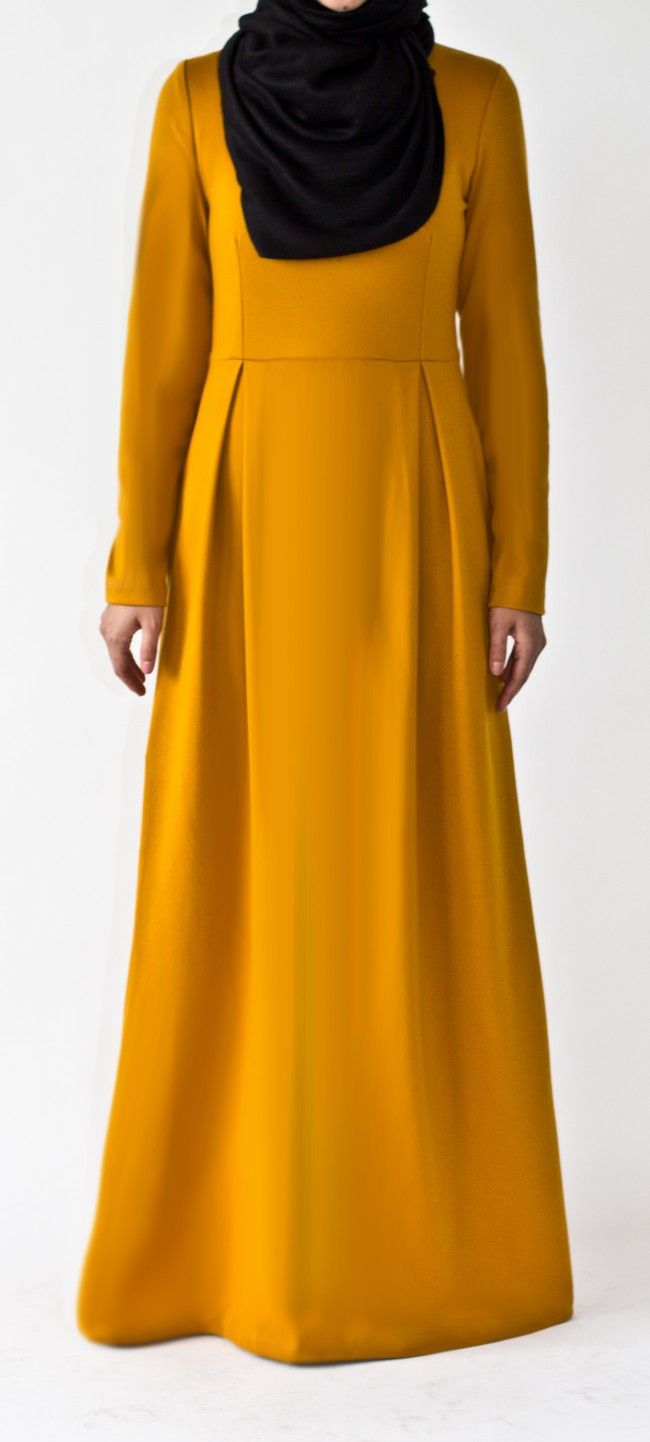 Mustard Tailored Abaya
