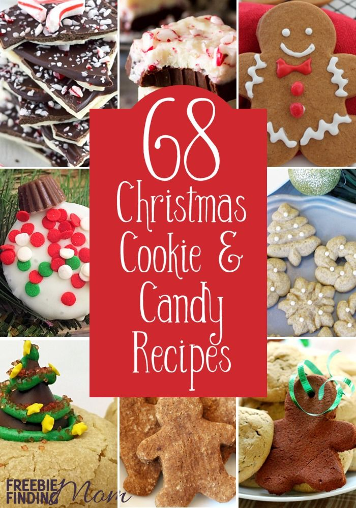 Do you want new Christmas cookie and candy recipes? Then you've come to the right place because here you'll find 68 simple Christmas cookie recipes including a Christmas shortbread cookies recipe, a Christmas sugar cookie recipe, a Christmas bark recipe, and more.