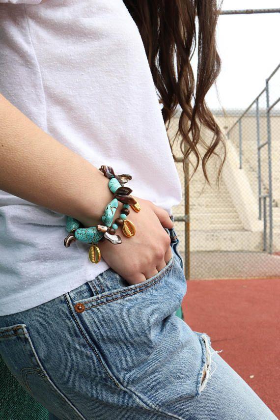 Turquoise Bracelet Women, Turquoise Stone Bracelt, Chaolitis Bracelet, Women Beaded Bracelet, Women's Bracelet, Gift for Her.