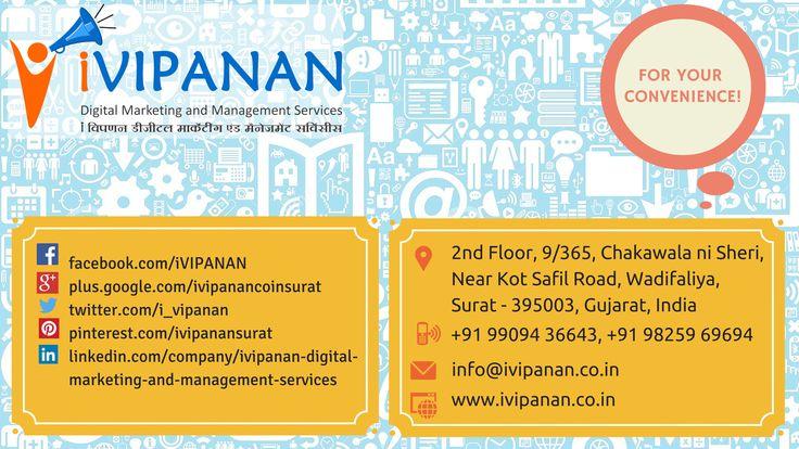 Contact us in #Surat #Gujarat for #DigitalMarketing #Management #Consultant #HR #Marketing #Business