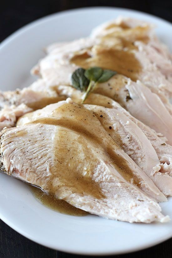 Slow Cooker Turkey Breast - so tender and juicy!