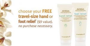 FREE Travel-Size Hand or Foot Relief at Aveda Stores ($9 Value) on http://hunt4freebies.com