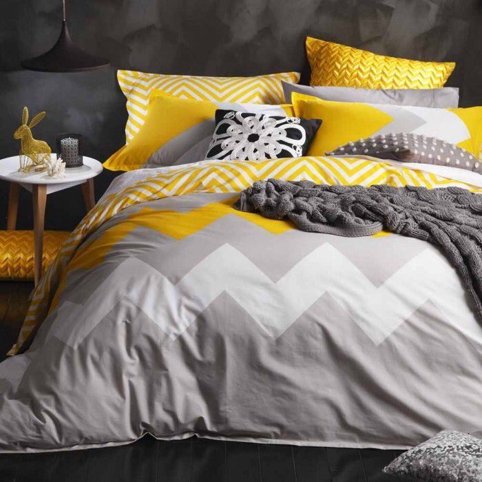 A pop of yellow adds sunshine to achromatic black, grey and white. Just the right colour accent for winter.