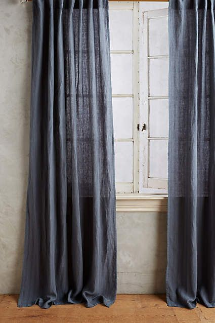 Striped Linen Curtain - anthropologie.com