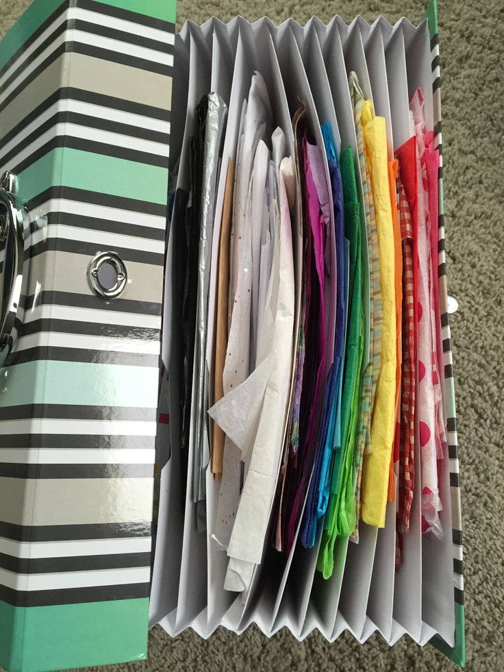 Organizing Gift Supplies