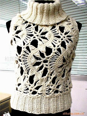 Hairpin lace and knitting.. Could easily make the rip in bl sc...