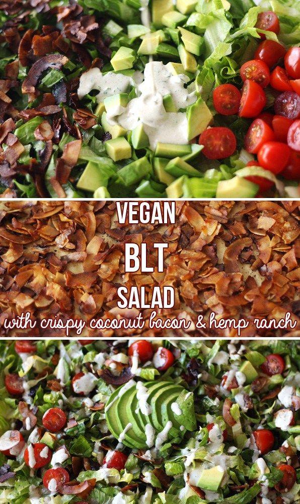 Vegan BLT Salad with Hemp Ranch Dressing