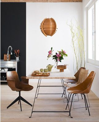 from emmas designblogg: Global Interiors, Dining Rooms, Home, Living Rooms, Wood, Design Style