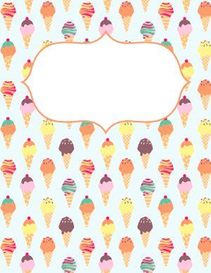 Ice Cream Binder Cover