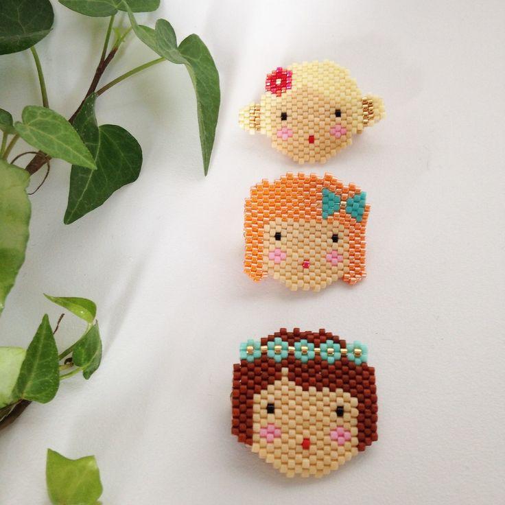"Image of Diagramme ""Little Doll"" blonde en brick stitch"
