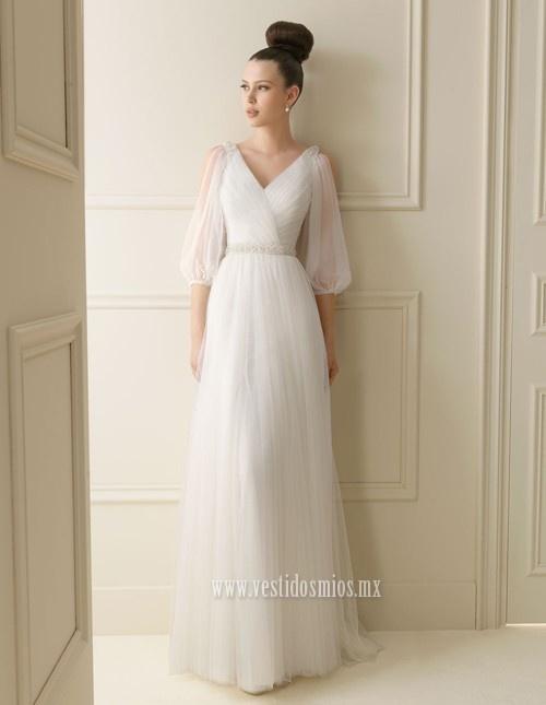 Vestidos de novia con mangas elegantes
