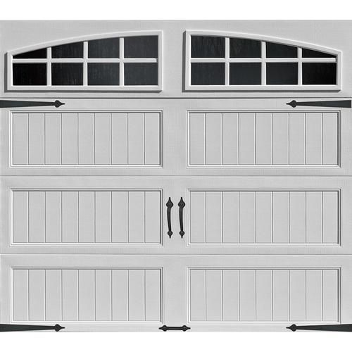 Ideal Door® Arched Lite White Arch Lite Long Panel Carriage House EZ-SET® Garage Doors at Menards®: Ideal Door® Carriage House 9 ft. x 7 ft. White Door, with Arched Windows