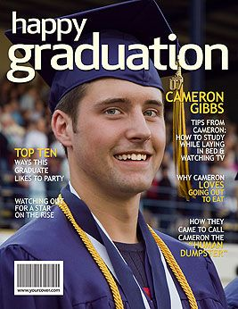 Graduation Personalized Fake Magazine Cover-YourCover-$20.00