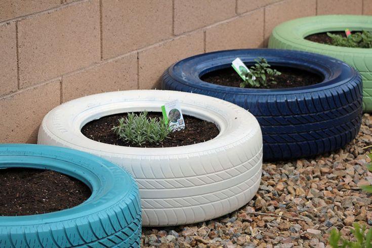 9 Creative Herb Garden Ideas | Tire garden, Backyard ...
