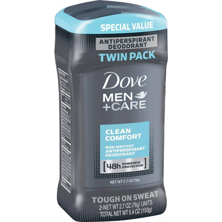 Dove Men+Care Clean Comfort Antiperspirant Deodorant Stick, 2.7 oz ...