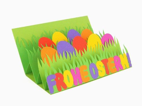 Osterkarte zum Aufklappen – Bastelvorlagen mit Anleitung