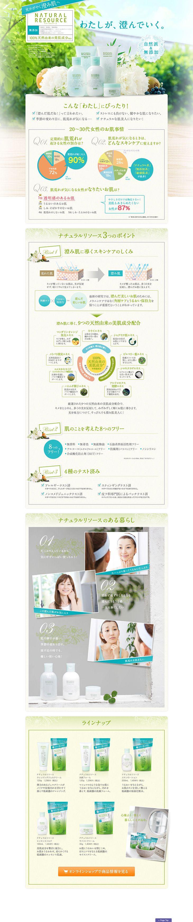 http://www.sana.jp/naturalresource/