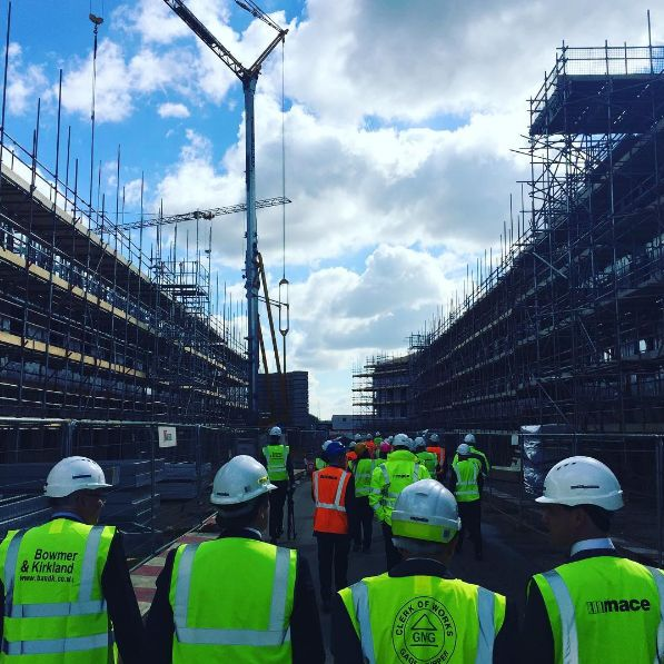 University of Northampton celebrates milestone topping out ceremony at new Waterside Campus
