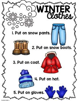 Winter Clothes How To Get Dressed Kindergarten