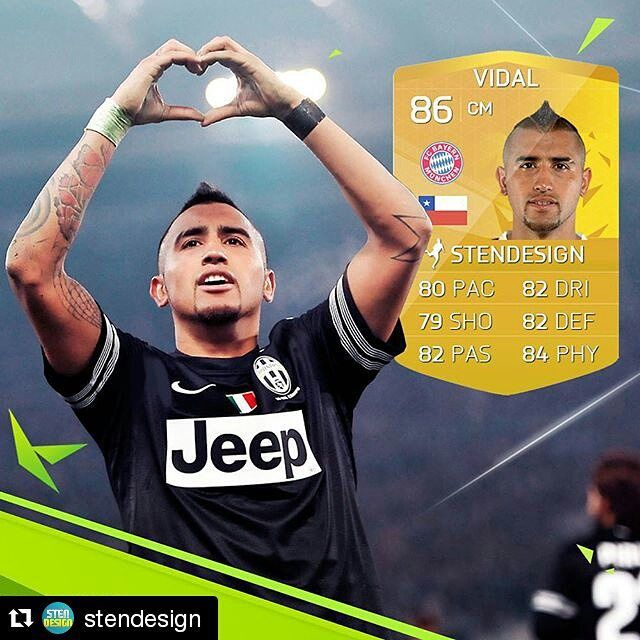 Vidal to Bayern! What do you think about the transfer? It's almost a done deal! I think he will be great for FCBayern! Leave a comment below! ️ #vidal #bayern #fifa #fifa15 #fifa16 #fut #fut15 #fut16 #ea #soccer #football