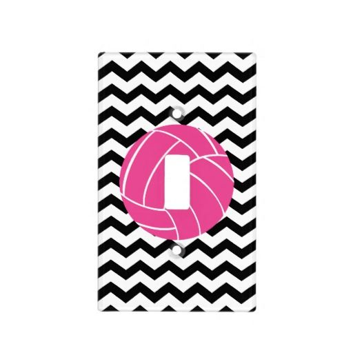 Chevron Zigzag Pink Volleyball Light Switch Cover | Zazzle ...
