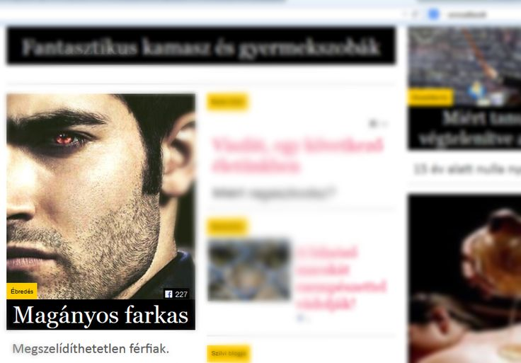 Magányos farkas címlapon! - NLCafé  http://azebredes.cafeblog.hu Manna OWell