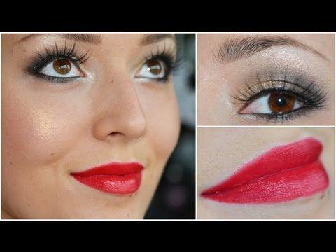 ▶ Kerst feest make-up look 2 2012 - YouTube