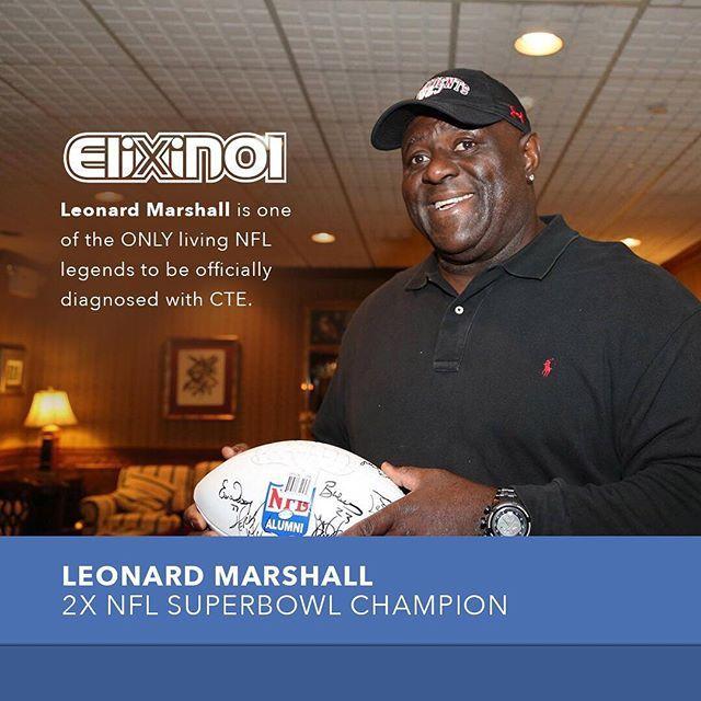 "Leonard Marshall is on a mission to ""save lives,"" learn more about his mission.  .  .  .  .  #NFL #CTE #Health #CBD #athlete #football    #Regram via @elixinol"