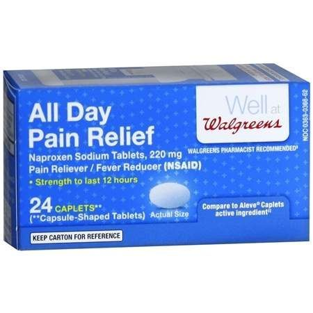 Walgreens All Day Pain Relief Caplets - 24 ea